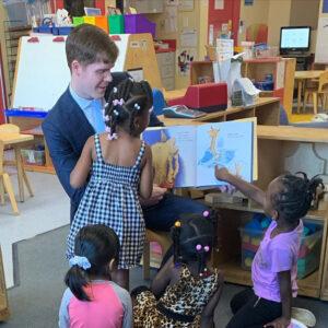 Jake Evans with Kids