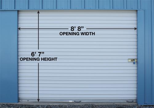 Door Size for 10x10, 10x15, 10x20, 10x30
