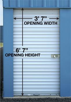 Door Size for 5x10