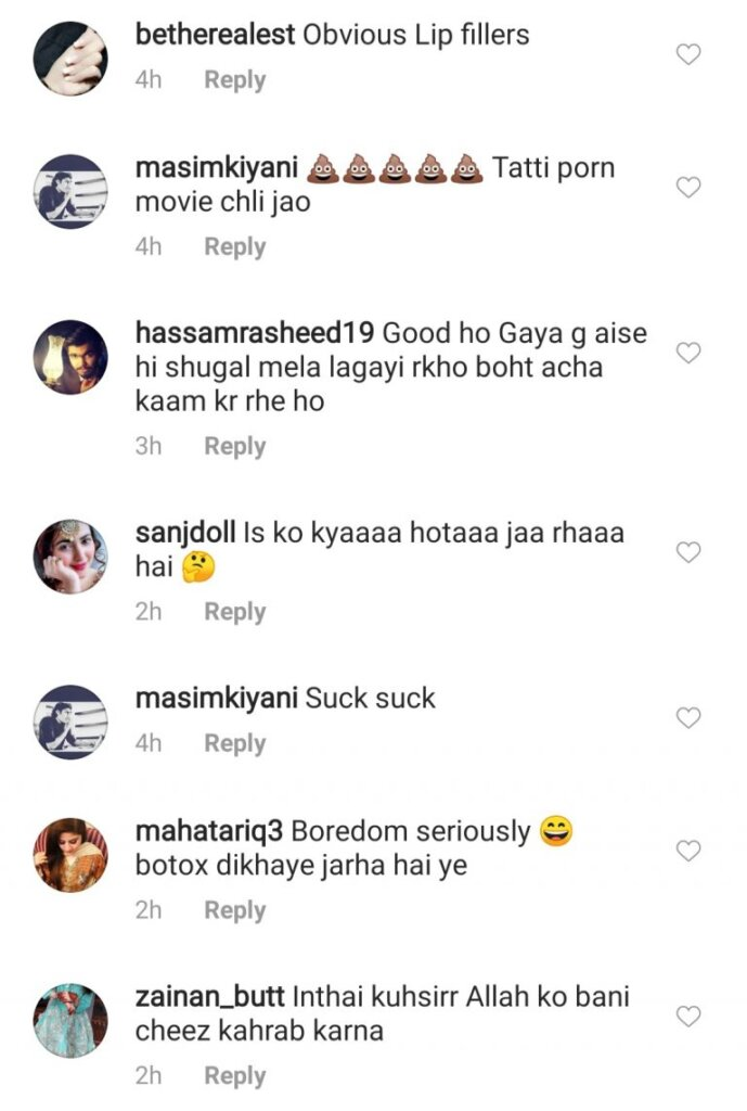 Pakistani Actress criticism