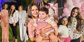 Celebrities Spotted At Sidra Batool Daughters Birthday