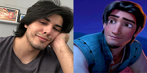 Danyal Zafar and Tangled Hero Eugene Resemblance