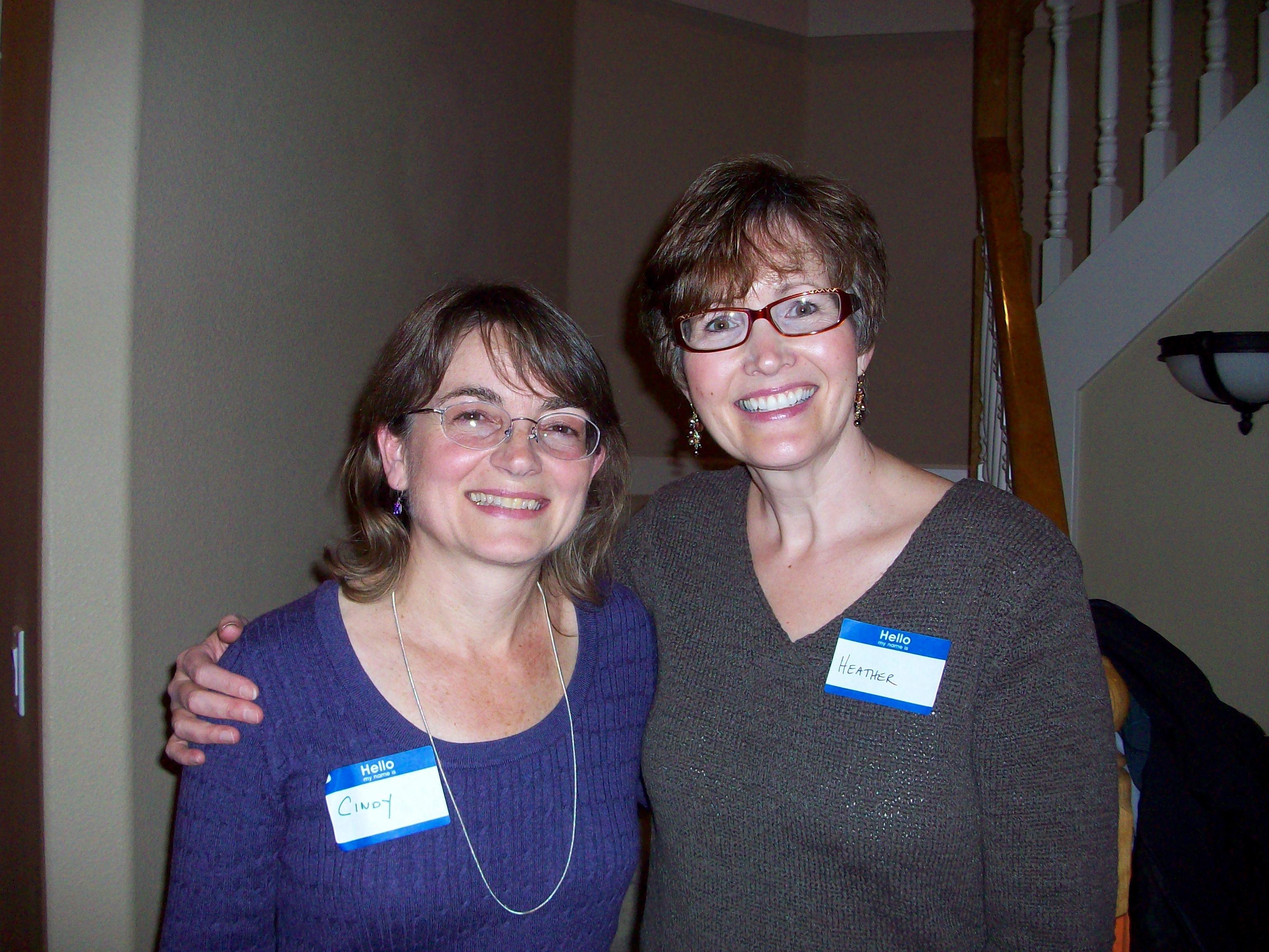 Cindy Hudson and Heather Vogel Frederick image