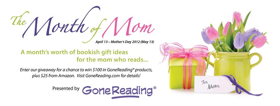 Gone Reading Month of Mom logo