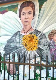 Emily Dickinson mural photo