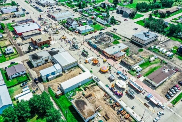 Valleyview aerial photos taken by Ken Wittig owner of Star Energy Logistics LTD Street Fair June  2019