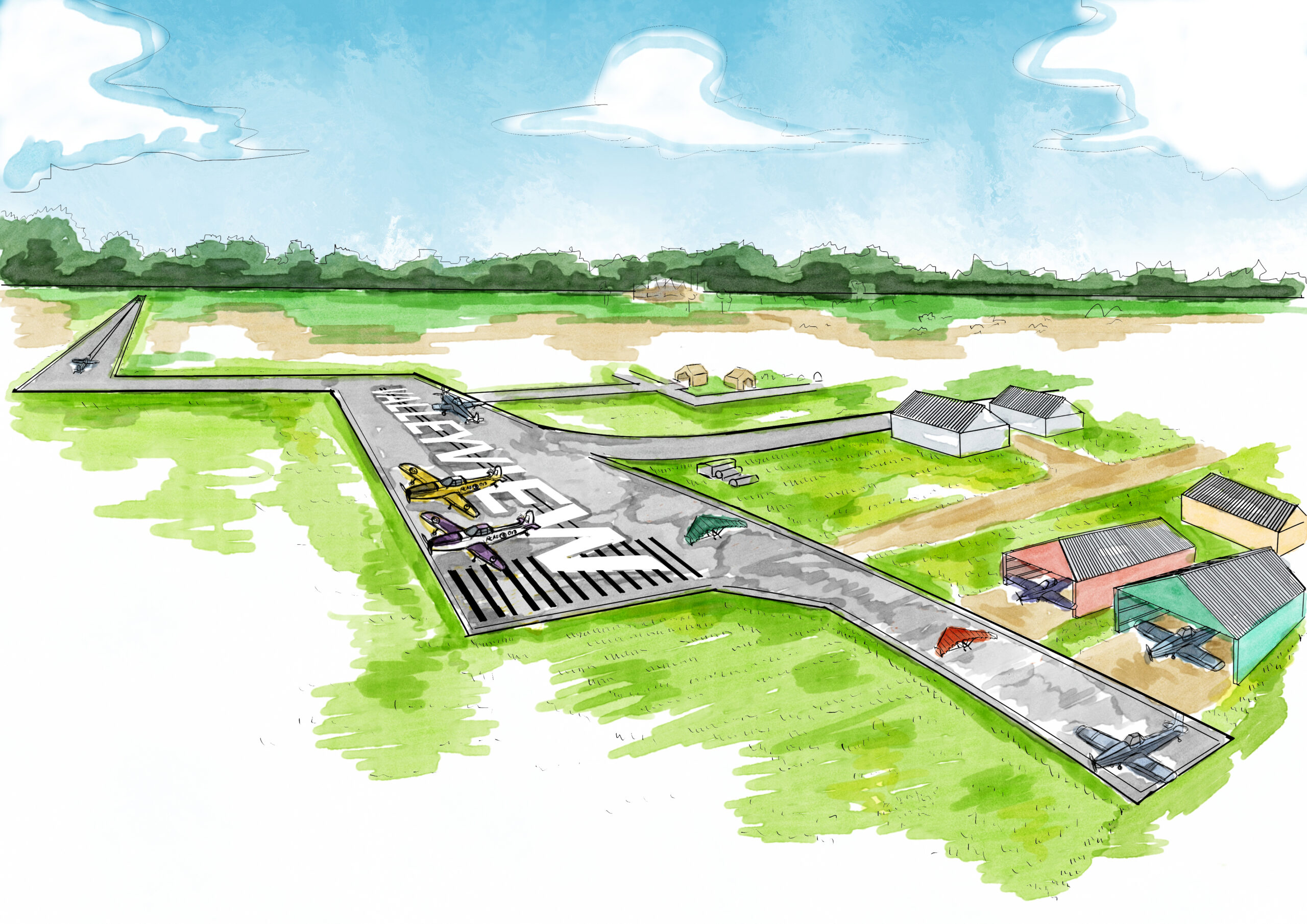Artist Rendition of Valleyview Airport