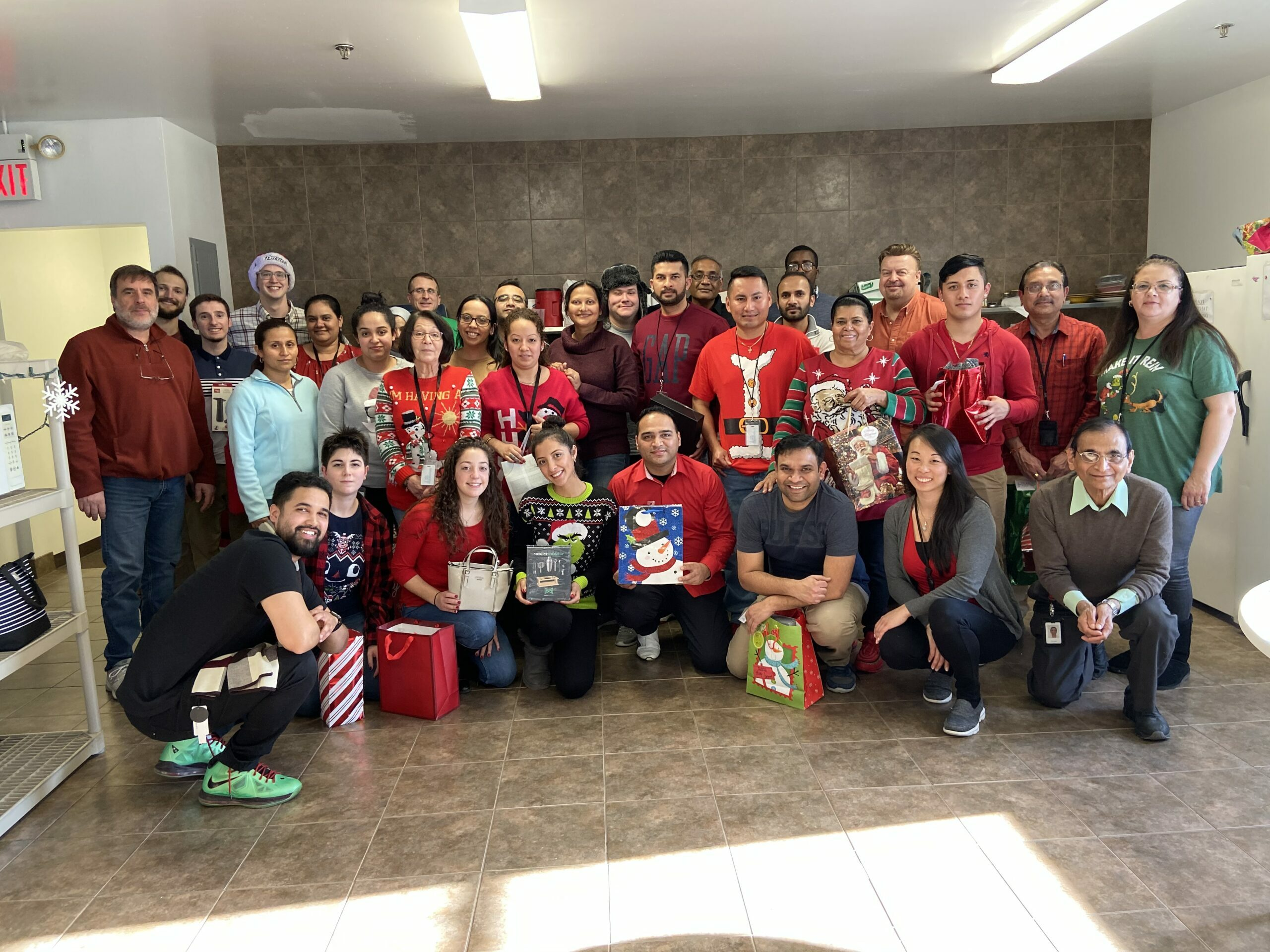 NJ Labs 2019 Company Christmas Secret Santa Lunch