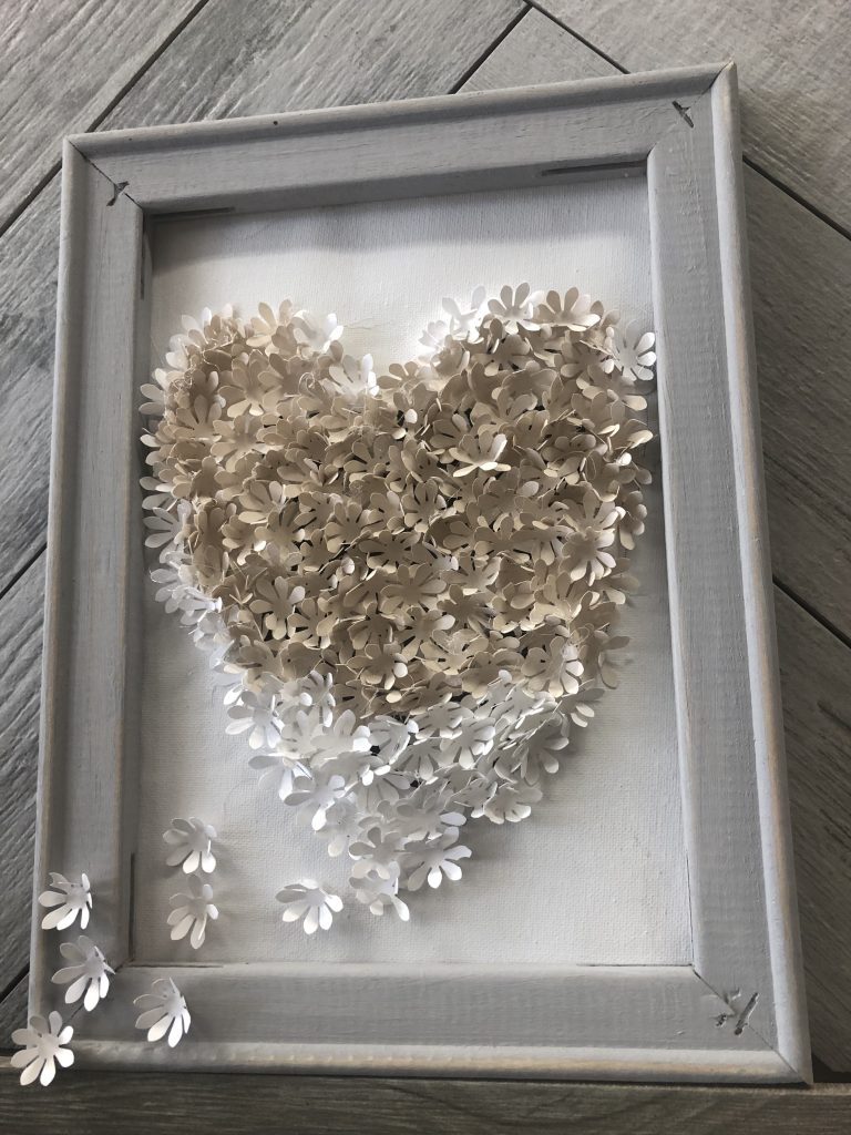 Turn your crafting mistakes into fun and elegant home decor. Reverse canvas diy. Valentines day craft. Paper crafting. Easy diy