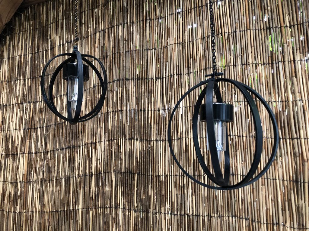 Light up your patio with orb solar lights made out of embroidery hoops DIYLearn how to make easy solar orb light out of embroidery hoops! Hip and budget friendly Patio light diy to enjoy year round.