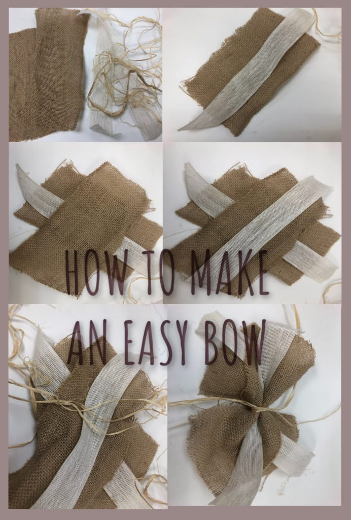 Learn how to make a beautiful bow in 4 easy steps! #howtomakeabow #bowmaking #easybow #giftwrapping #fallwreaths #wreathbow