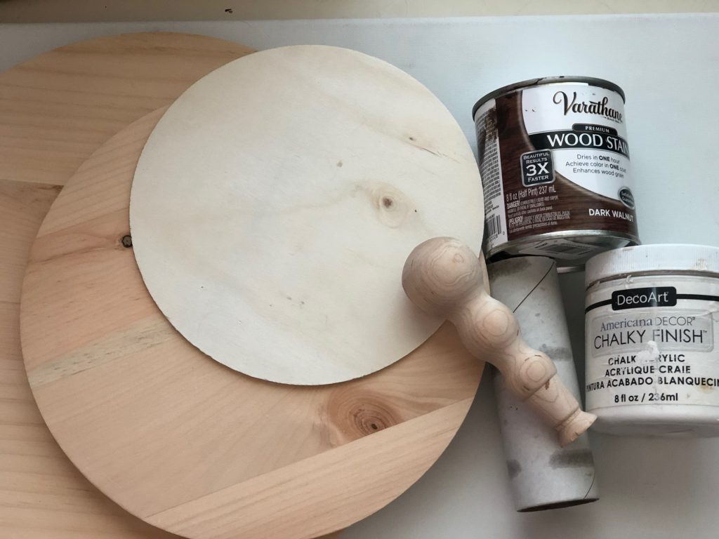 Learn how to make easy & stylish Rustic wooden tiered tray under $10. All season Home decor idea. Shabby Chic display tray DIY