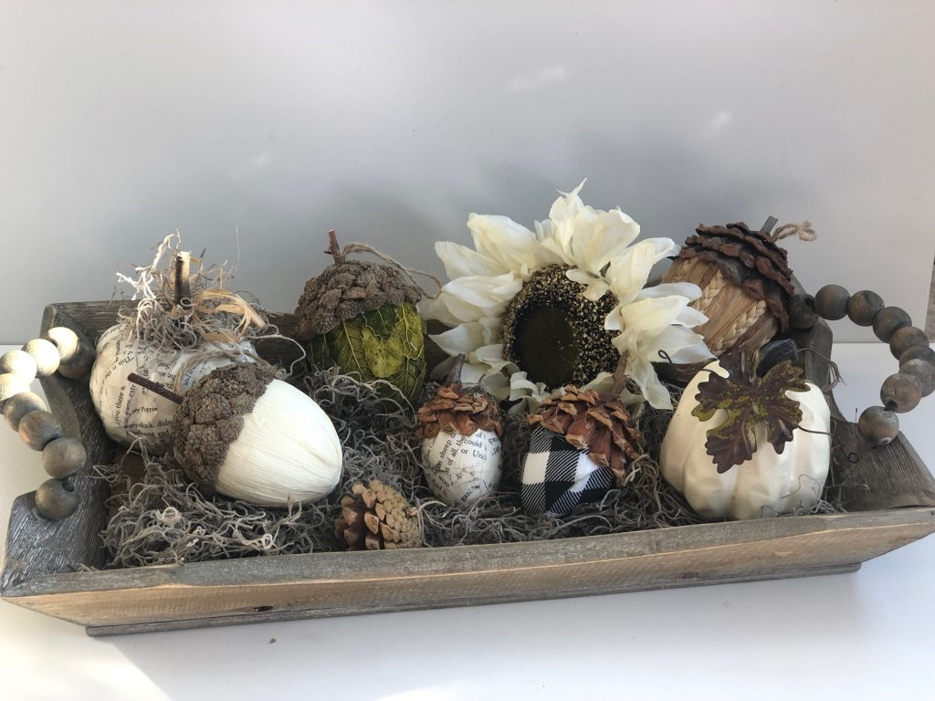 Turn your easter eggs into fall decor! Learn how to make pine cones. Easy DIY Easy super cute fall acorns diy to decorate your home this fall. Budget friendly easy fall decor. Pine cone craft