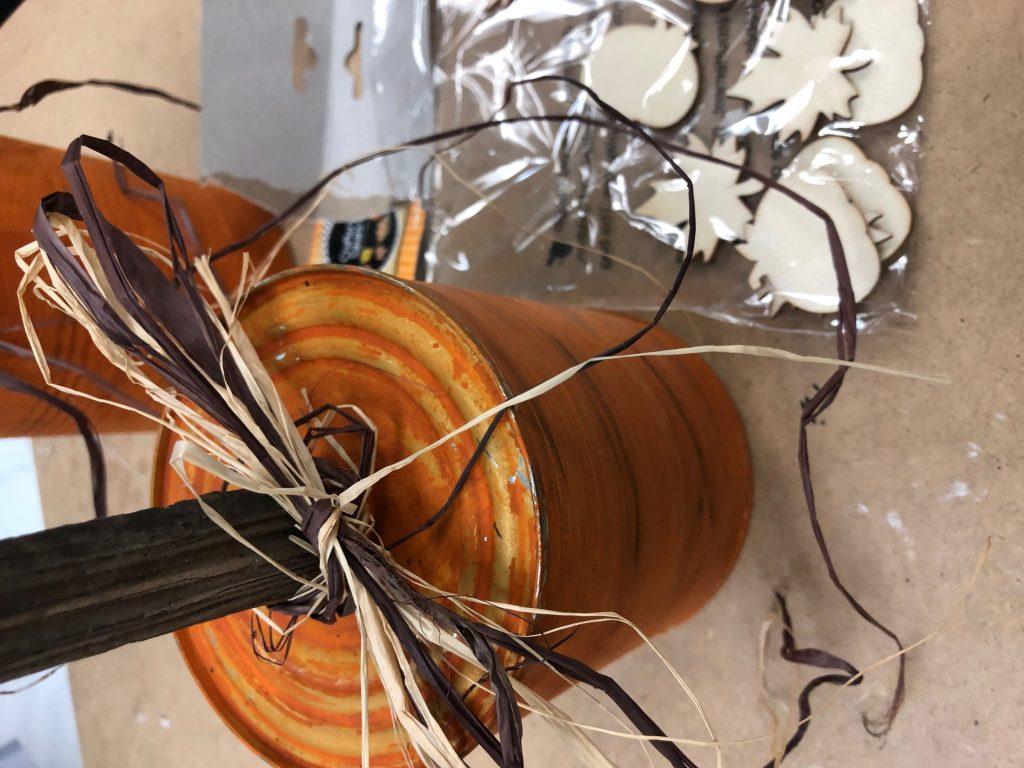 pumpkin made out of can Budget friendly fall decor ideas. Fall pumpkin craft. Can upscycle craft diy. Dollar Tree crafts. Easy pumpkin