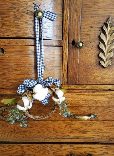 Buffalo check mini grapevine fall wreath