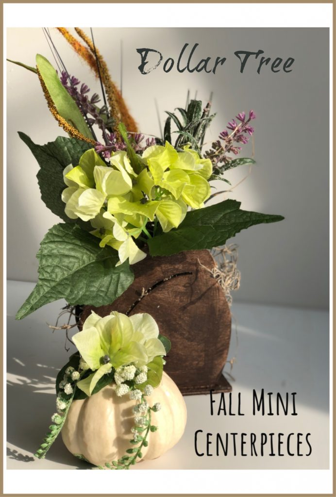 Beautiful walnut stained acorn Dollar Tree cutout make a perfect fall centerpiece #falldecor #fallcenterpieces #falltablescapes #falldiy