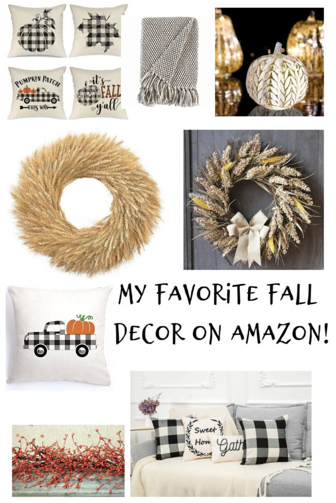 Here is the list of few of my Fall Decor favorites that you can find on Amazon! All well under $40.#falldecor #fall #fallfavorites #buffalocheck #fallaccent pillows