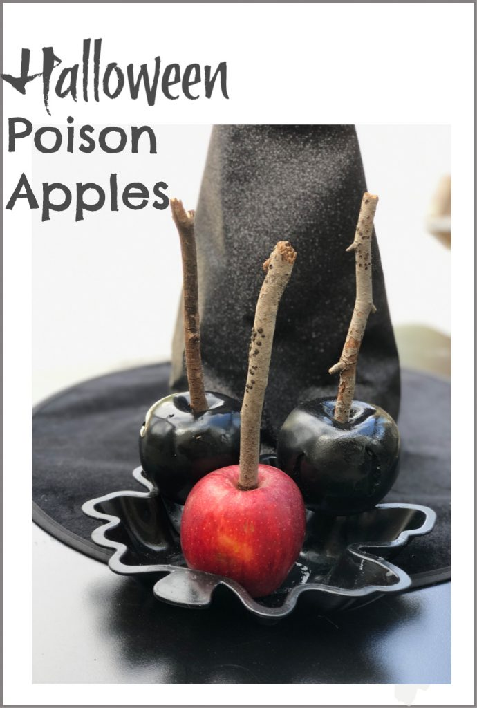 Looking for fun halloween diy? Let's make Poison FORBIDDEN apples easy Halloween decor in  minutes. Dollar Tree DIY