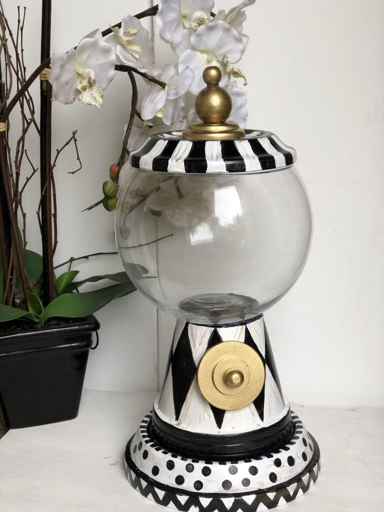 Dollar Tree hot cocoa bar gumball machine to store your candy