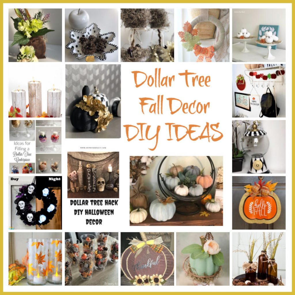 Dig in into fun and elegant Dollar Tree Fall Decor DIY Ideas!Thrifty yet elegant Dollar Tree Fall Home Decor diy. Fall Centerpieces and wreaths. Halloween diy .All budget friendly diy