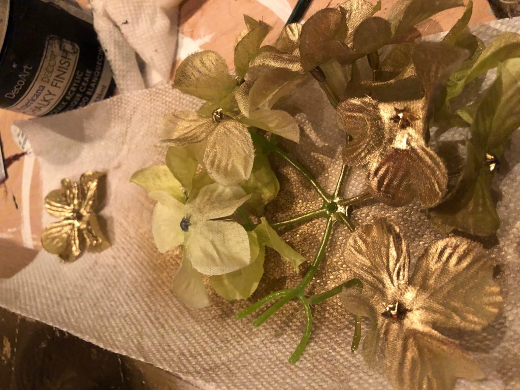 Super Elegant Fall Decor diy. No carve Halloween Fall pumpkin. Dollar Tree pumpkin makeover with gold flower embellishments