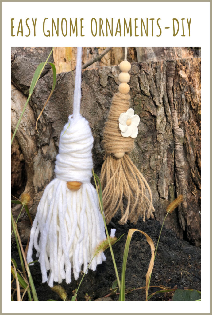 Learn how to make easy Christmas gnome. Tassel Gnome. Christmas Gnome. Enchanted Garden Gnomes