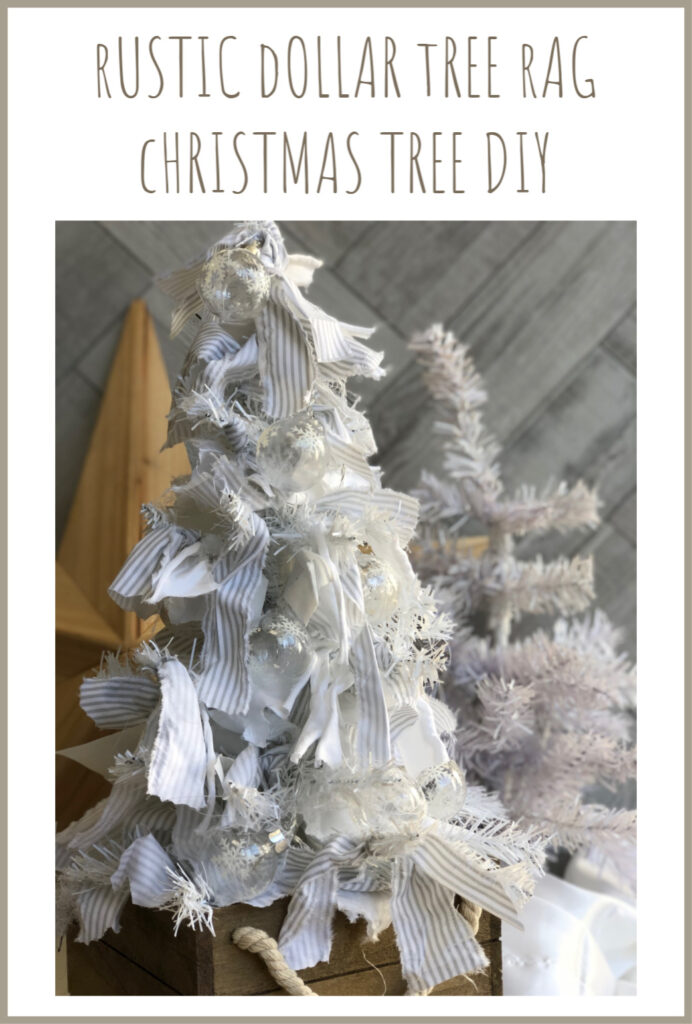 Do you love Rustic style? Learn how to transform simple Dollar Tree tree to Rustic Rag Christmas decor . Super easy and stylish DIY