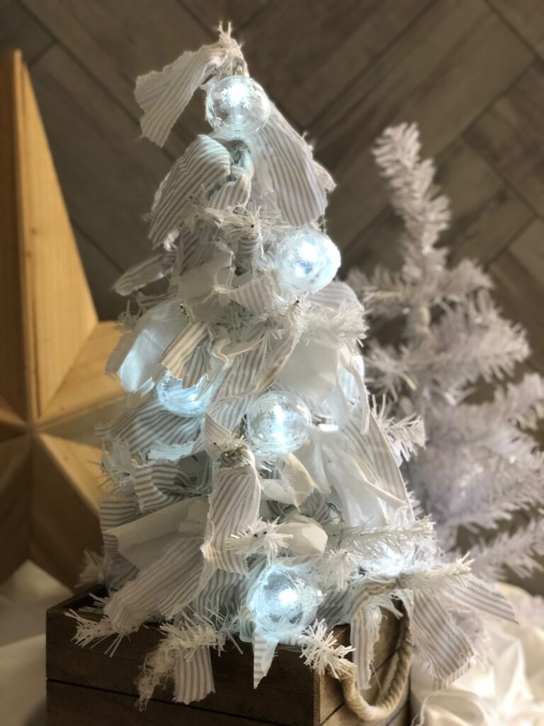 Do you love Rustic style? Learn how to transform simple Dollar Tree tree to Rustic Rag Christmas decor . Super easy and stylish DIY Dollar Tree crafts