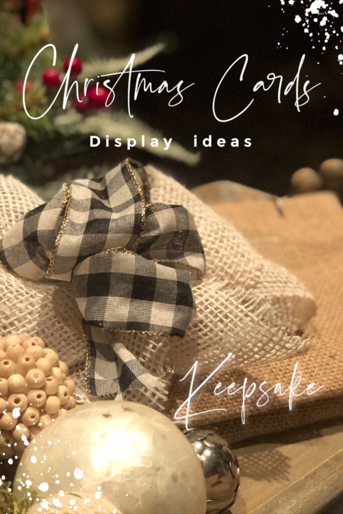 Are you looking for ways to display your Christmas cards this way? Look no further... Here are some ideas for you. Christmas keepsake ideas.