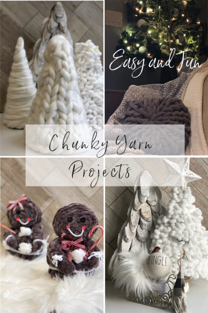 Let's have fun with Chunky yarn. Perfect   evergreen way to decorate your house.