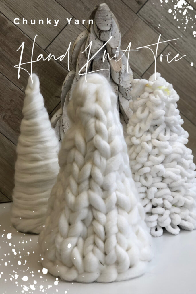 Learn how to hand knit beautiful Tree out of Chunky yarn. Dollar Tree Christmas craft