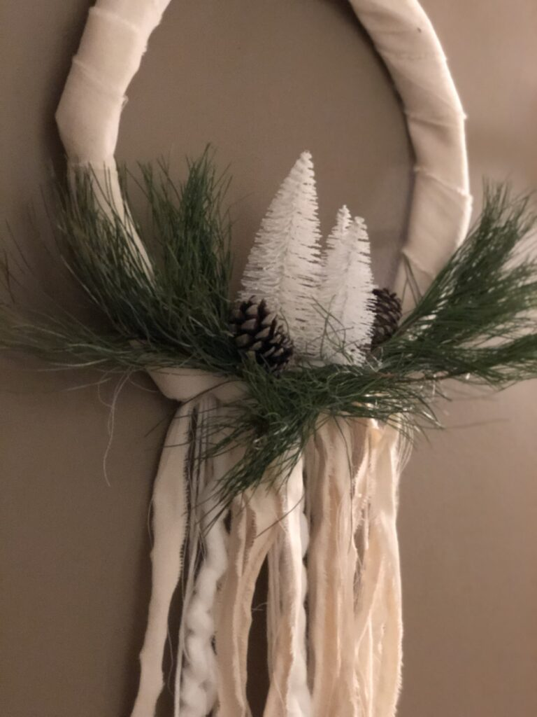 Evergreen Farmhouse Boho Wreath is the only one you need all year round. Just add your seasonal decor and you are good to go. Winter wreath diy .Farmhouse wreath