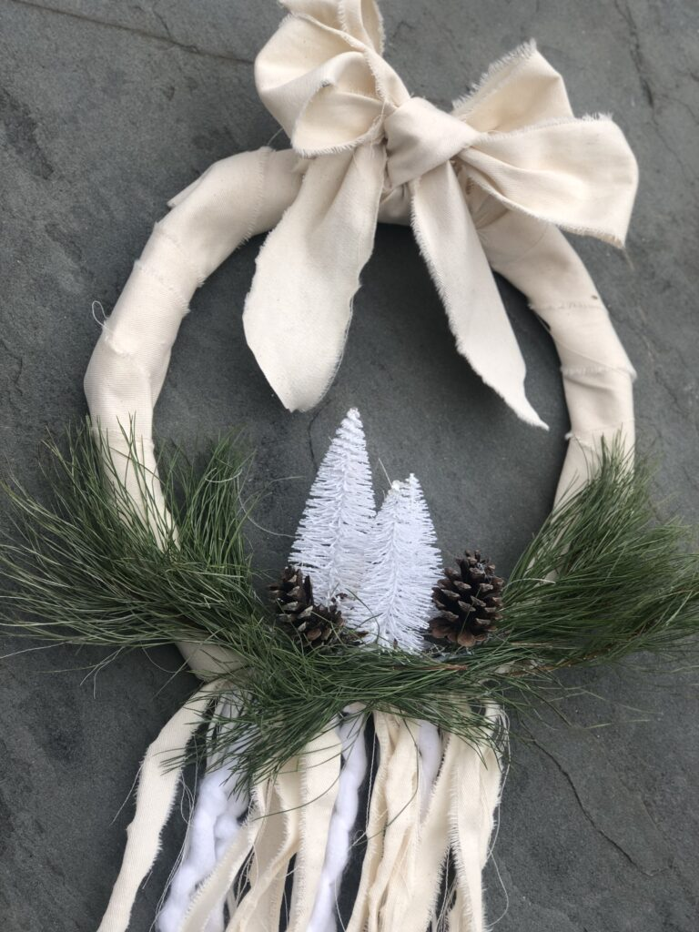 Evergreen Farmhouse Boho Wreath is the only one you need all year round. Just add your seasonal decor and you are good to go. Winter wreath diy