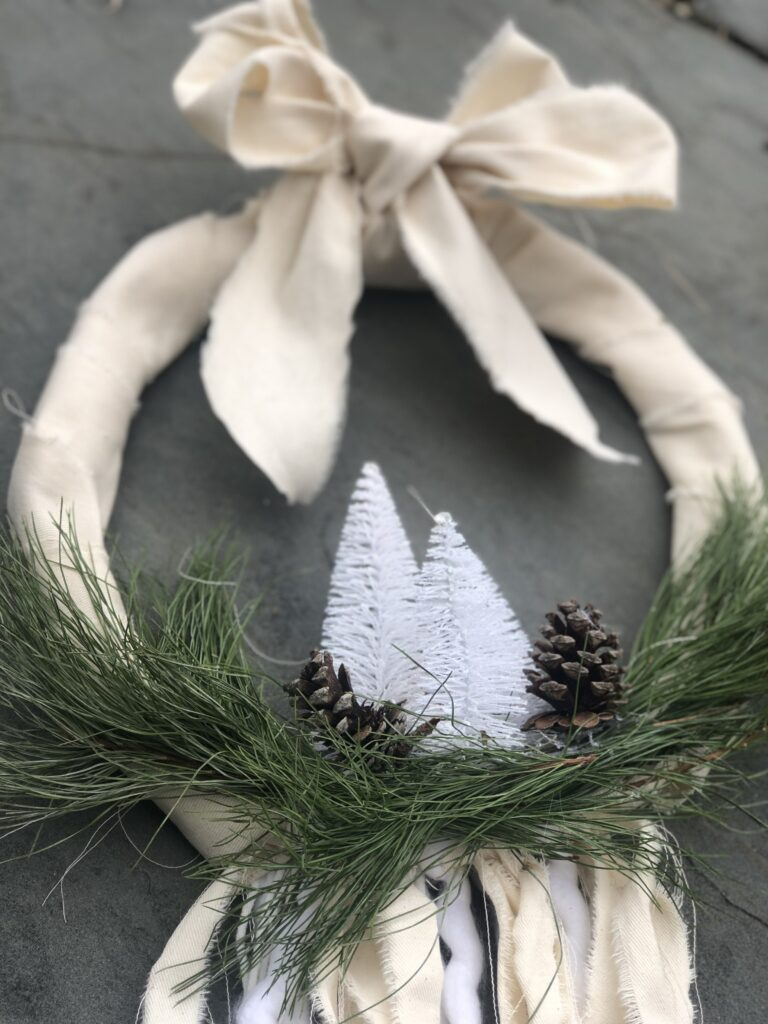 Evergreen Farmhouse Boho Wreath is the only one you need all year round. Just add your seasonal decor and you are good to go.Farmhouse wreath