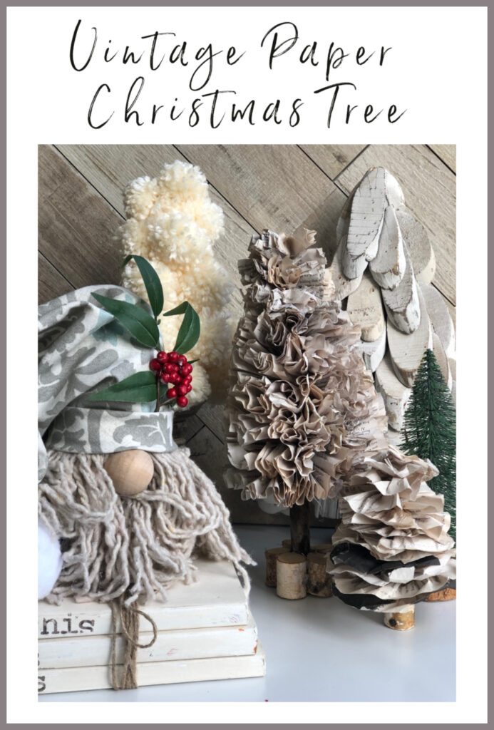 Do you love Vintage decor? Let's make together Beautiful Christmas Tree out of paper.