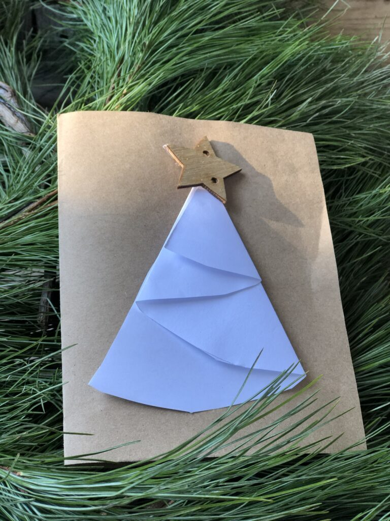 Fold some paper and make a beautiful Christmas cardsCheck out our last minute ideas for Homemade Christmas cards. Elegant budget friendly way to show you love someone.