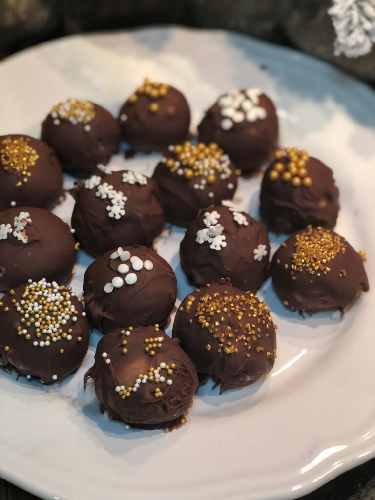 Let's skip the cookies this year and make Truffles! Truffles will make great gifts for friends and neighbors .Holiday gift