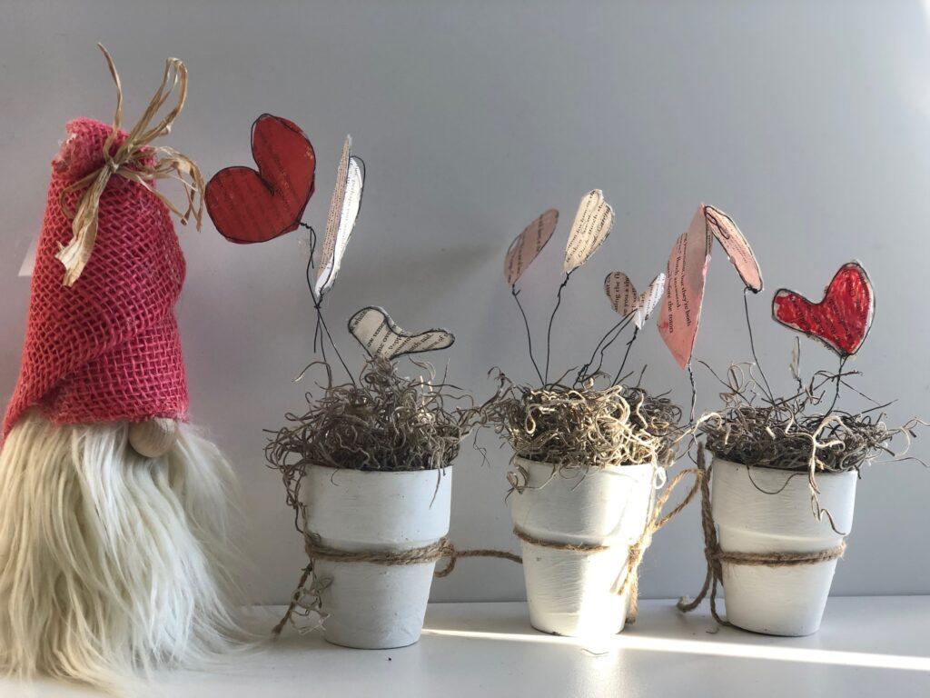 Rustic Heart Garden DIY . Book page window decor