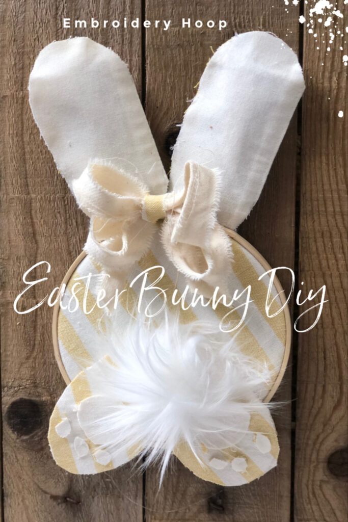 Super cute easy to make embroidery hoop Easter bunny will for sure kick your Spring decor in style. Budget friendly Spring Easter decor