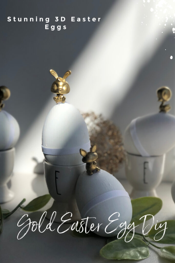 Let's re-create Pier1 3D Gold Easter Eggs  Stunning Spring Home Easter Diy. Budget friendly Easter Spring home decor idea