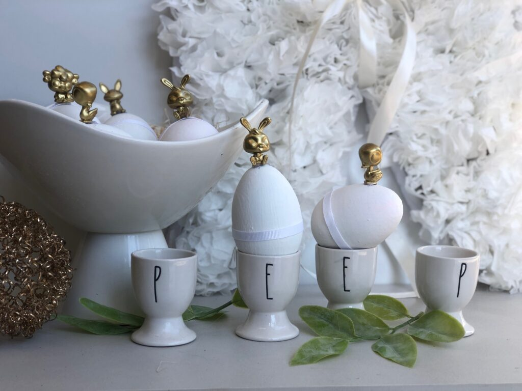 Stunning 3D Easter egg decor idea. Budget friendly Easter diy to elevate your spring home decor.Let's re-create Pier1 3D Gold Easter Eggs  Stunning Spring Home Easter Diy. Budget friendly Easter Spring home decor idea