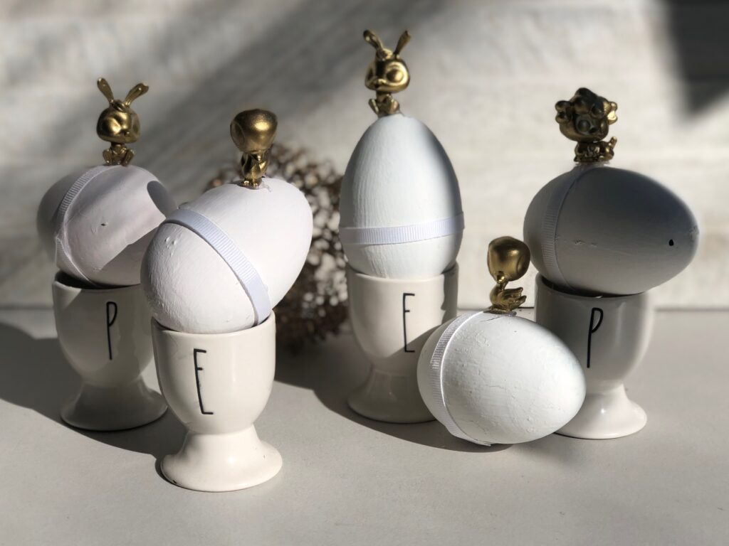 Stunning 3D Easter egg decor idea. Budget friendly project to elevate your spring home decor.