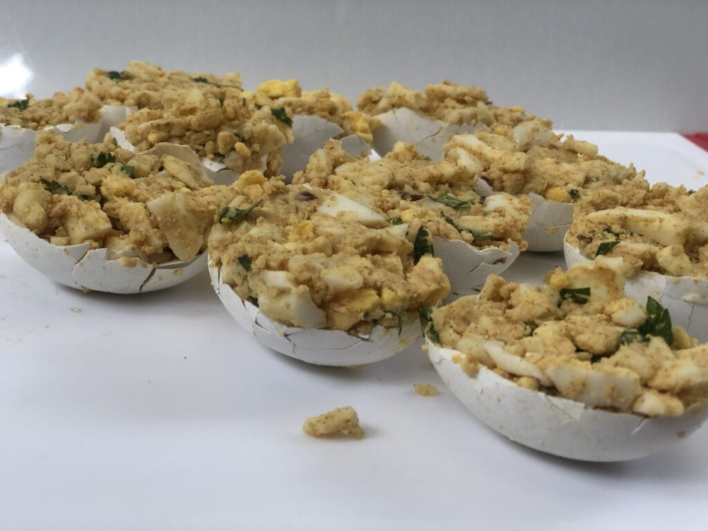 Easter favorite recipe. Stuffed chopped Easter Eggs is the one you need to make this holiday season. Easter traditions