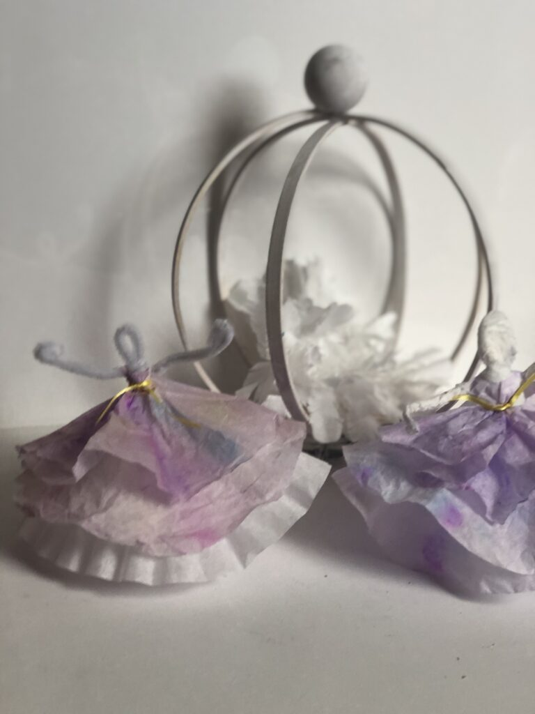 Are you looking for some craft ideas that you can do with your child? I have super cute one to keep your dancer occupied. Coffee filter crafts with kids Watercolor coffee filters