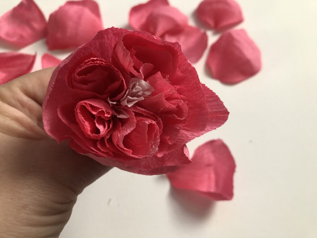 Crepe Paper Beautiful English Rose tutorial. Easy to follow insturctions with video.Make your own flower today. Flower paper craft