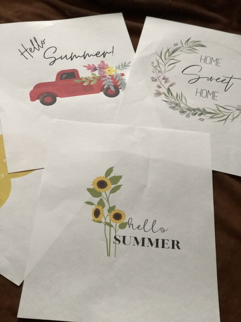 Get your FREE SUMMER PRINTABLES ! Let's have fun and create some beautiful signs to decorate our houses