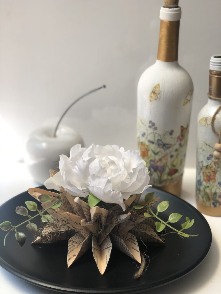 Decoupage is super fun paper craft. Have you tried yet? Let's turn our glass bottle into Shabby Chic home decor accent