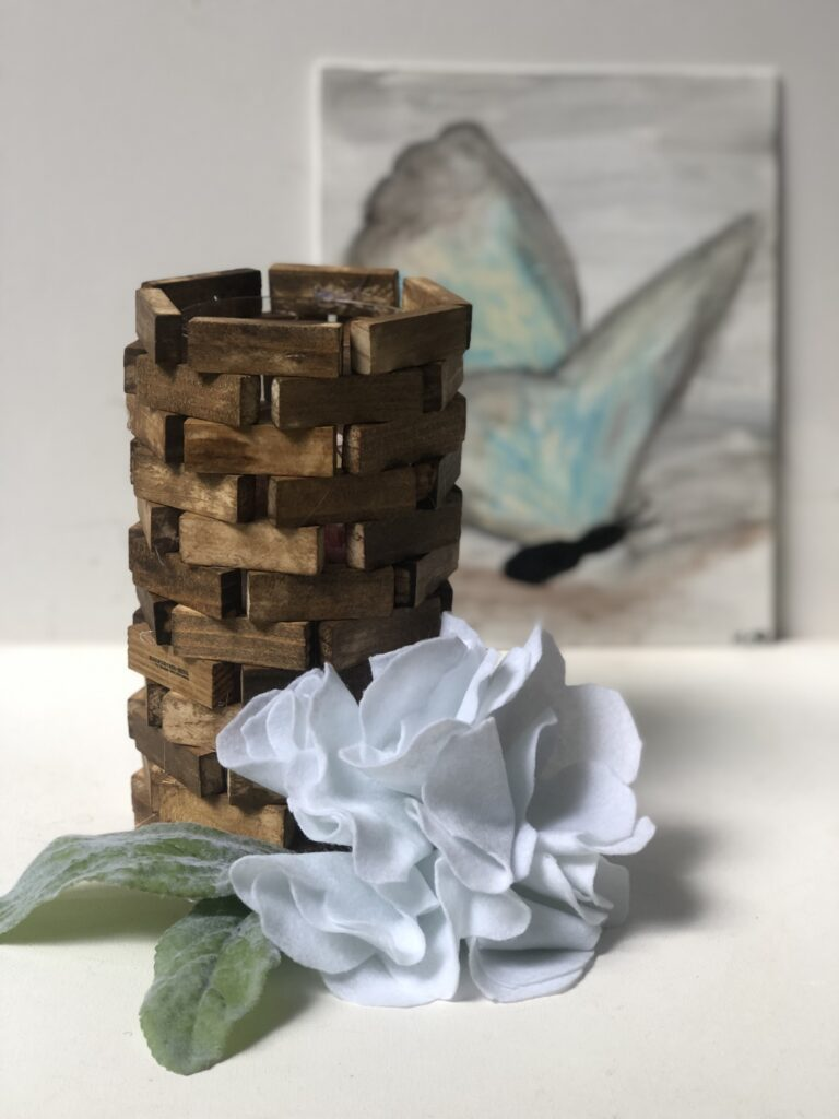 Learn how to make wood lantern. Rustic Wood Lantern under $3 out of paint stir sticks. Dollar Tree home decor diy .Paint stir sticks lantern diy