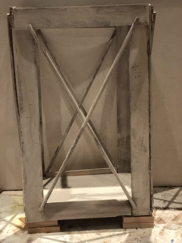 Learn how to make A wood lantern. Rustic Wood Lantern under $3 Dollar Tree home decor diy .Paint stir sticks lantern diy