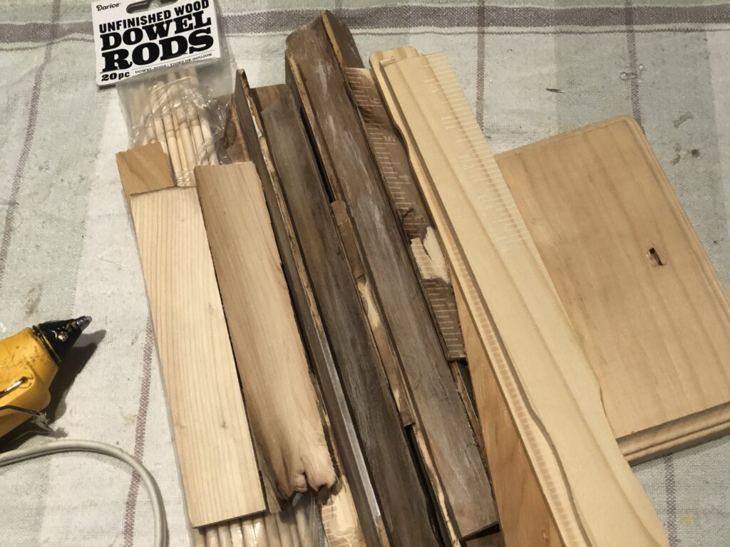 Learn how to make an easy wood lantern. Rustic Wood Lantern under $3 out of paint stir sticks. Dollar Tree home decor diy